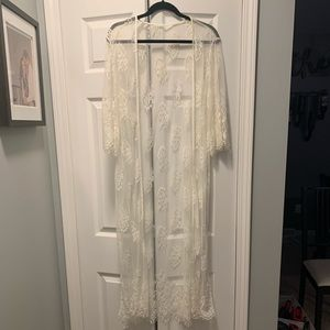 White Lace Duster